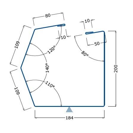 Водосточный желоб (узел карнизного свеса кровельных сэндвич-панелей)
